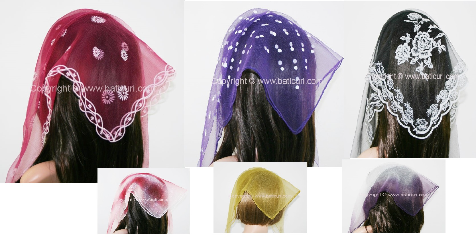 Nylon Square Scarves